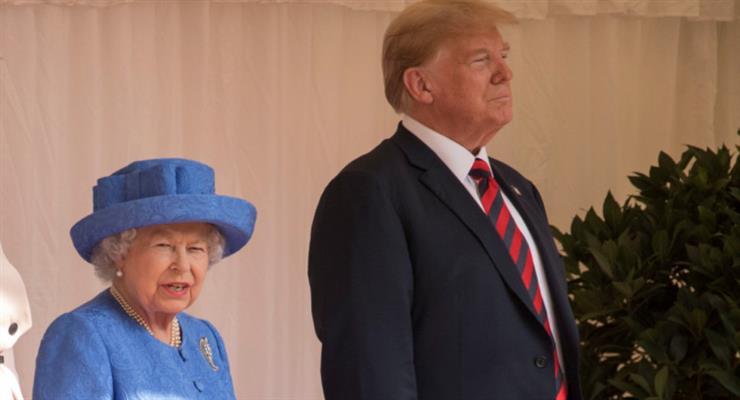 телефонный разговор королевы Великобритании и Дональда Трампа