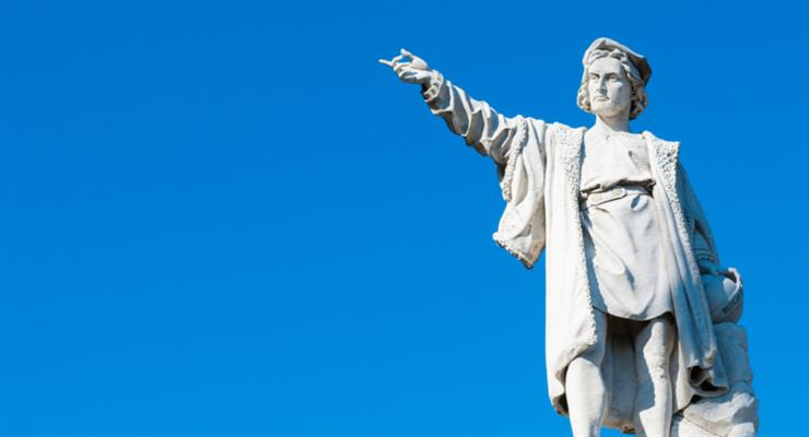 зруйнована статуя Христофора Колумба