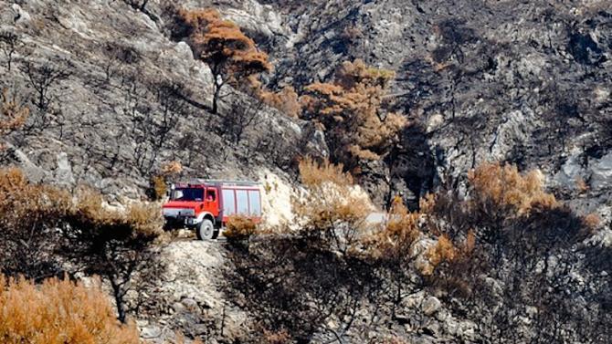 пожежа поблизу Афін