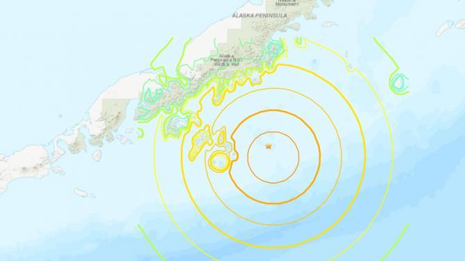 землетрус на півостріві Аляска