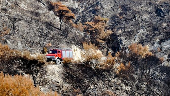 пожежа на грецькому півострові