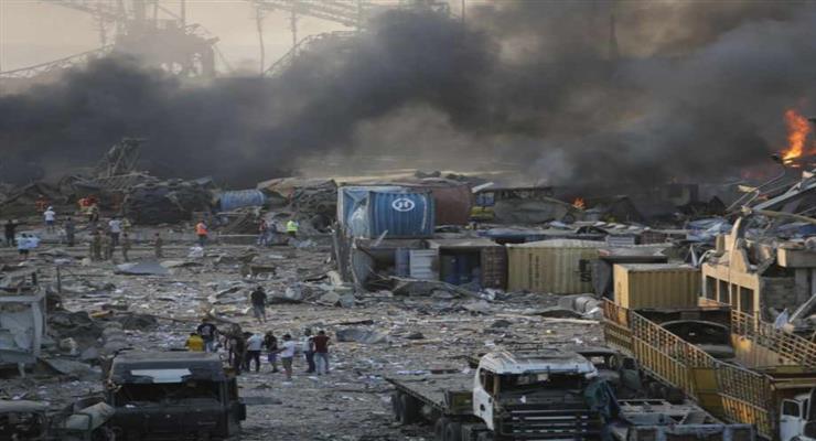 сильний вибух в Бейруті