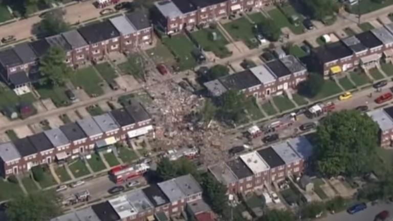 В Балтиморе в результате мощного взрыва газа были разрушены дома