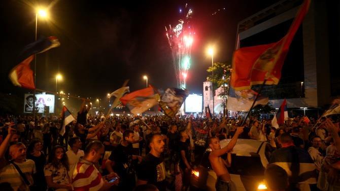 в Подгориці пройшли тисячі мітингів