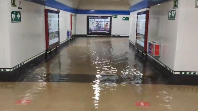 мадридское метро парализовано из-за потопа