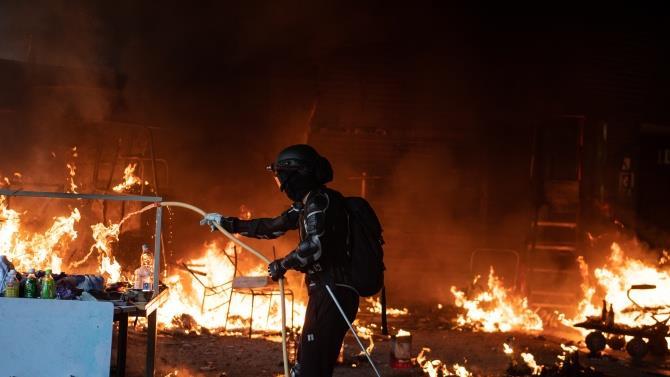 пожар в Гонконге