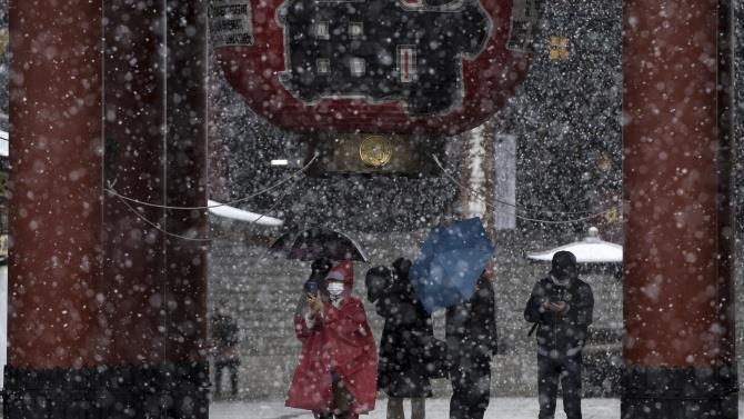 сильне похолодання і снігопади в Японії