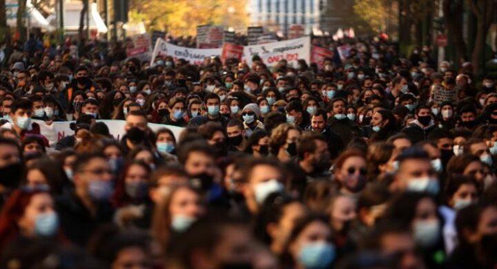 протесты студентов в Греции