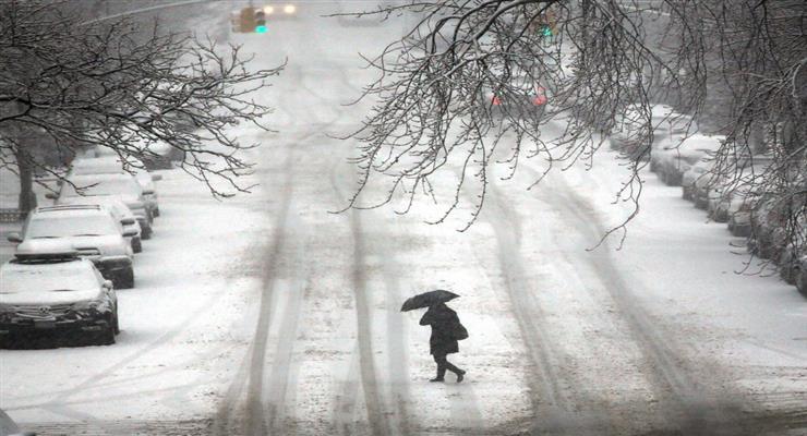 холодный циклон на севере Европы