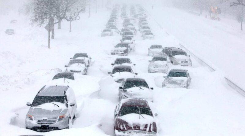 снігопад в Нью-Йорку