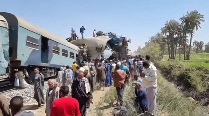 зіткнення двох поїздів в Єгипті