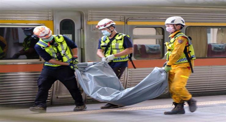 засоби для допомоги жертвам великої катастрофи поїзда на Тайвані