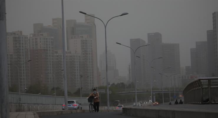 песчаные бури в Китае