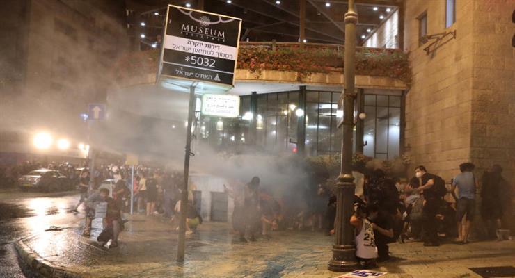 зіткнення між ізраїльською поліцією і протестуючими
