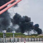 Сильный взрыв на химическом заводе в немецком городе Леверкузен
