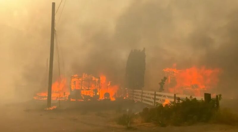 згоріло селище Літтон