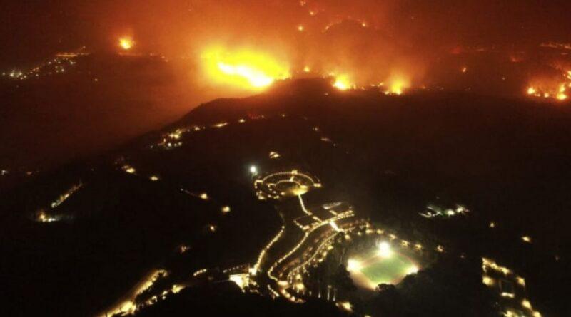 понад 20 сіл були евакуйовані через пожежі на Пелопоннесі