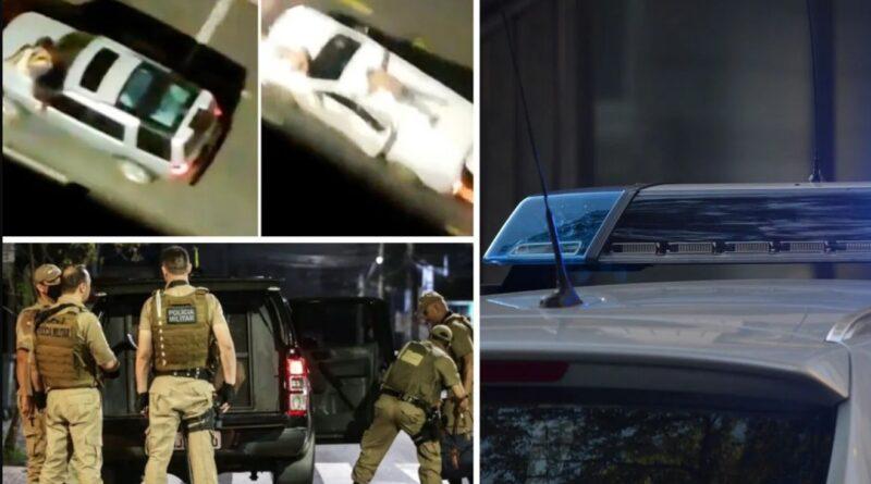 грабіжники банків прив'язували заручників до дахів своїх машин