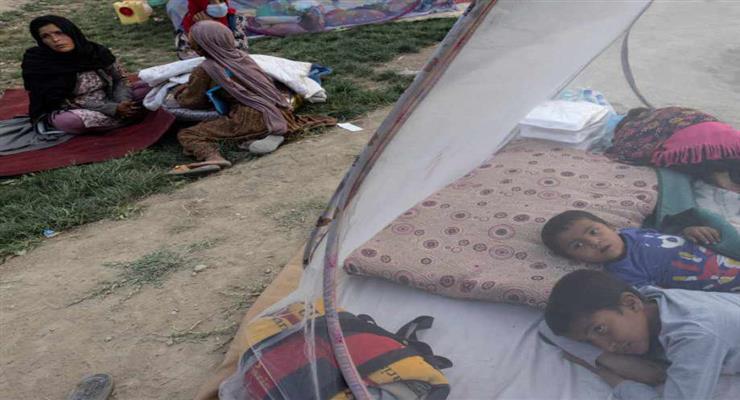 кір на американській базі, де розміщені афганські біженці