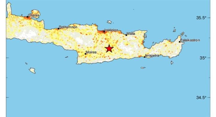 Сильний землетрус потряс Крит