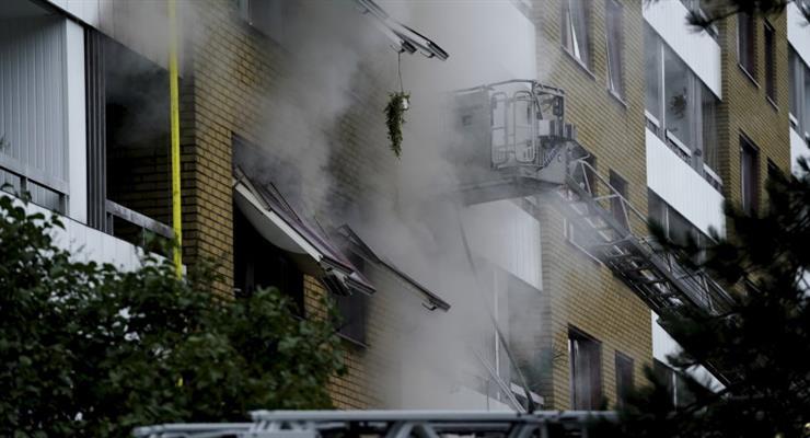 взрыв в жилом доме в шведском городе Гетеборг