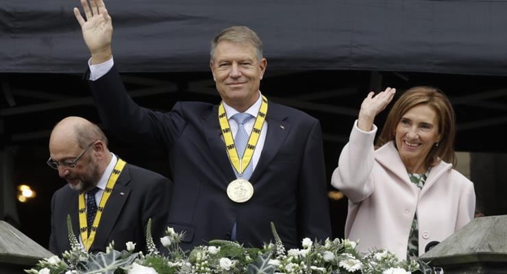 Клаус Йоханнес отримав премію Карла Великого