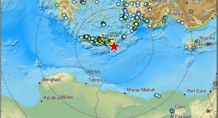 сильное землетрясение обрушилось на о. Крит